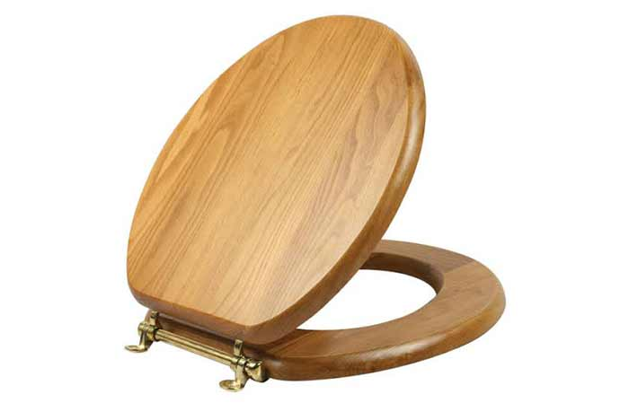 Picture of how a wooden toilet seat looks like