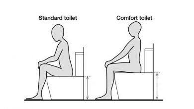 Photo of Chair Height vs Comfort Height Toilet vs Standard