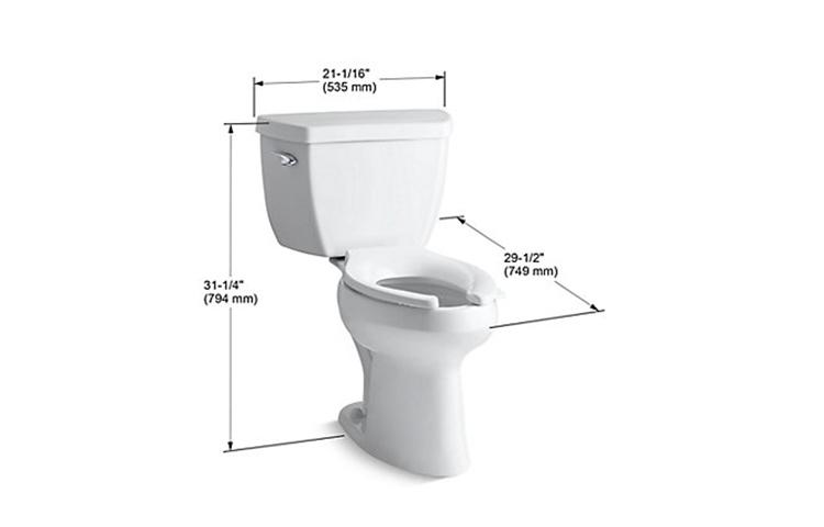 elongated toilet dimensions