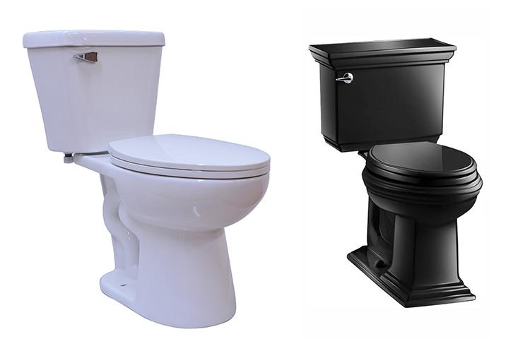 Oval/elongated toilet seat shape