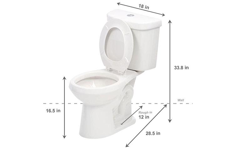 round toilet dimensions