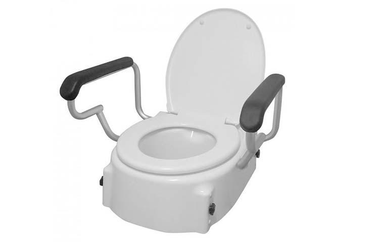 Toilet seat raiser with handles