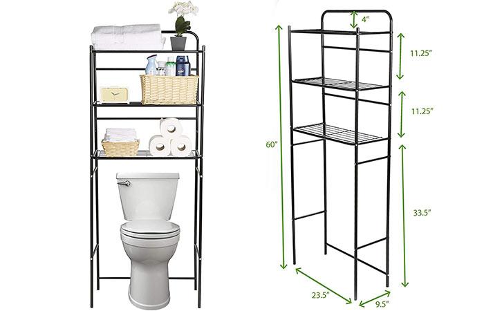Mind Reader 3-tier Over-the-Toilet Storage Metal Rack