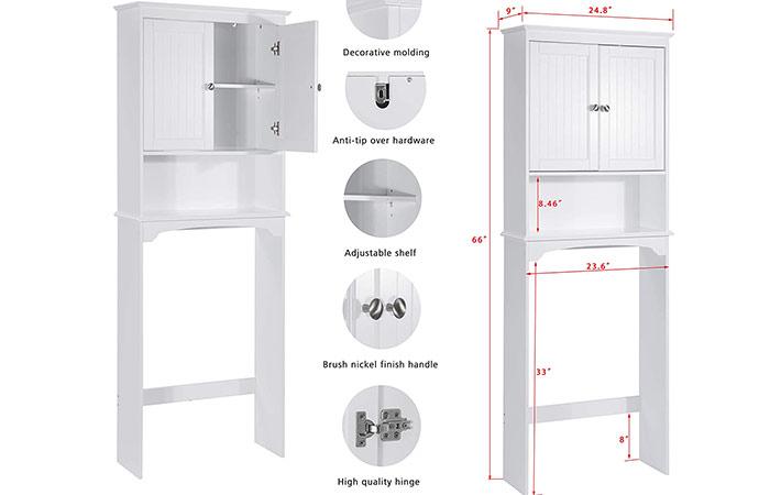 spirich bathroom space saver shelf cabinet