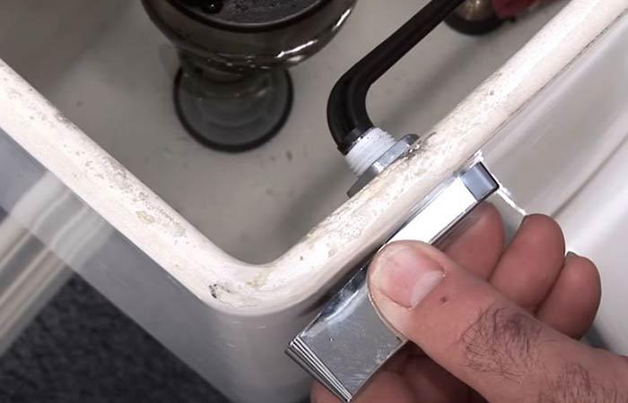 toilet flush lever nut