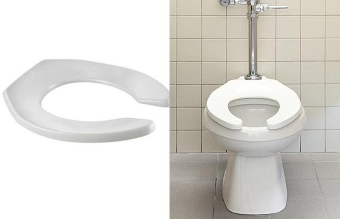 Open or U-shaped toilet seat