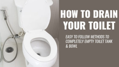Photo of How to Drain a Toilet Bowl & Tank Fast.