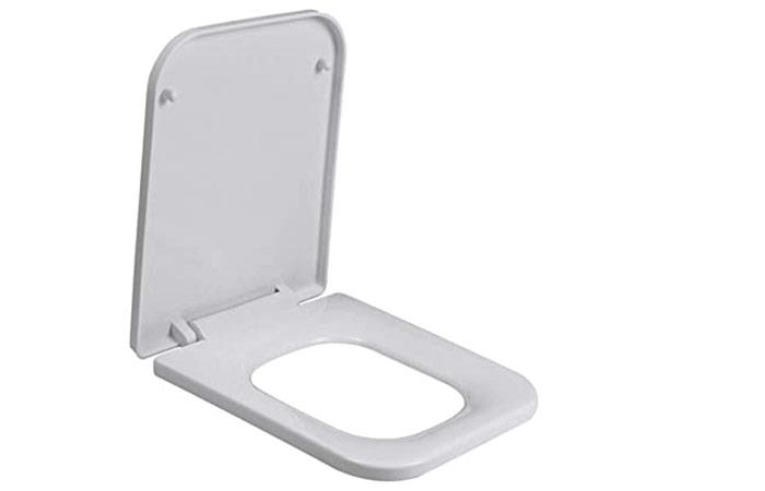 Square-shaped toilet seat
