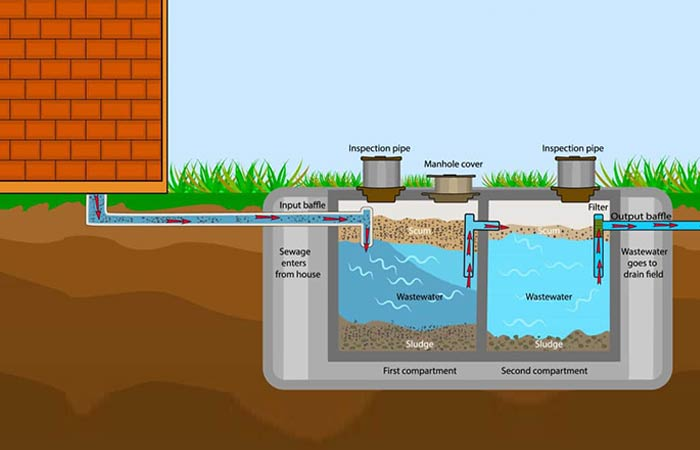 Septic tank and System Diagram