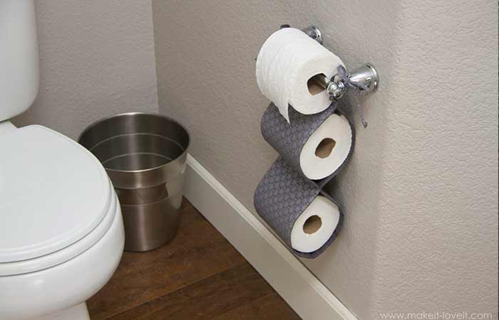 DIY fabric Toilet paper holder
