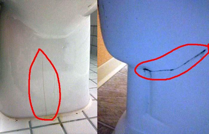 Toilet Bowl cracks around the base