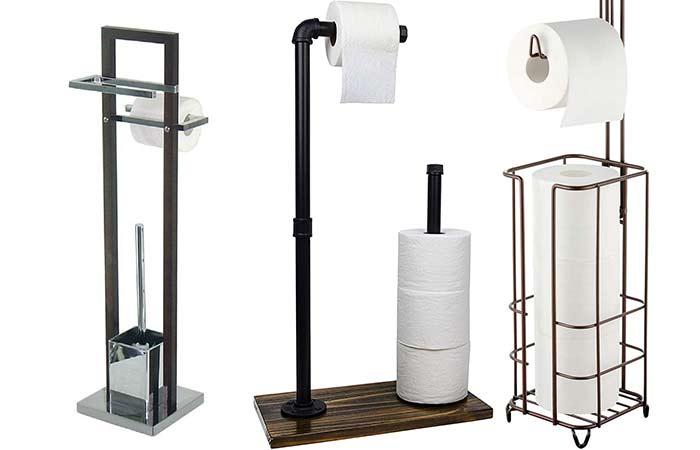 Freestanding Toilet Paper holder on the floor