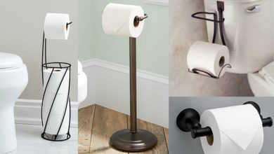 Photo of Where to put Toilet Paper Holder in Small Bathroom+Storage Ideas
